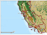 Watershed Boundaries and Land Cover in California